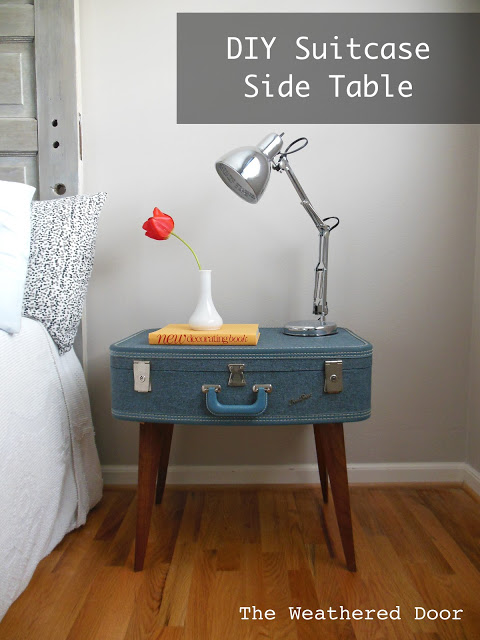 DIY Suitcase Side Table WD 2